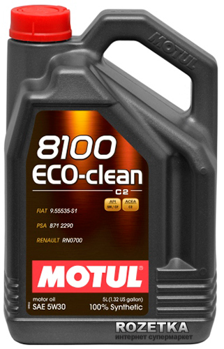 Моторное масло MOTUL 8100 ECO-CLEAN+ 5W30